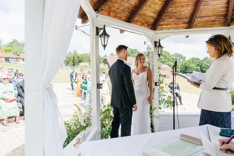 outdoor wedding ceremony lythe hill hotel