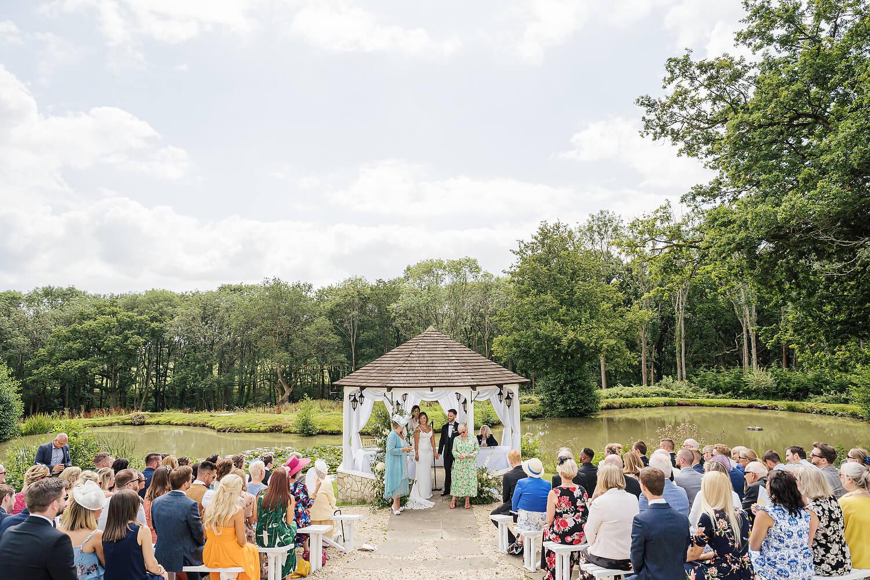 outdoor wedding lythe hill hotel