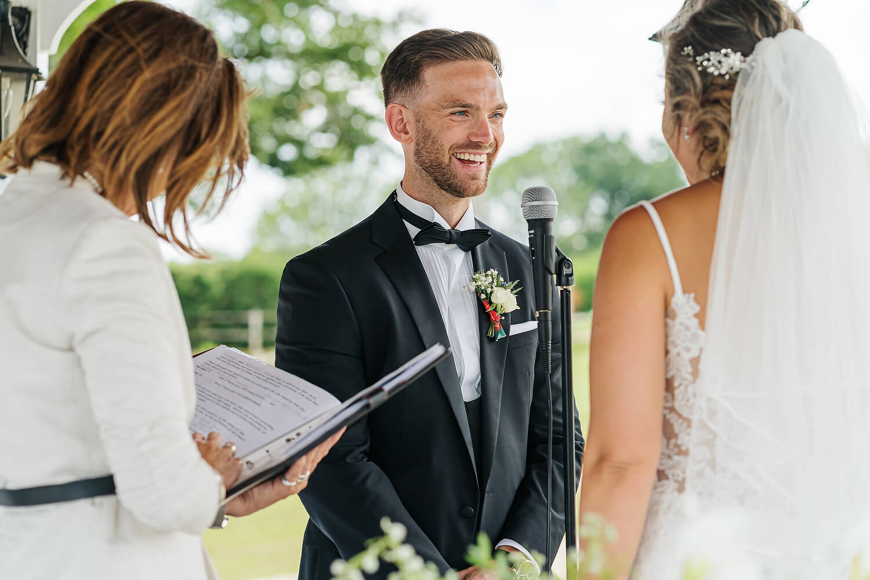 wedding ceremony at lythe hill hotel