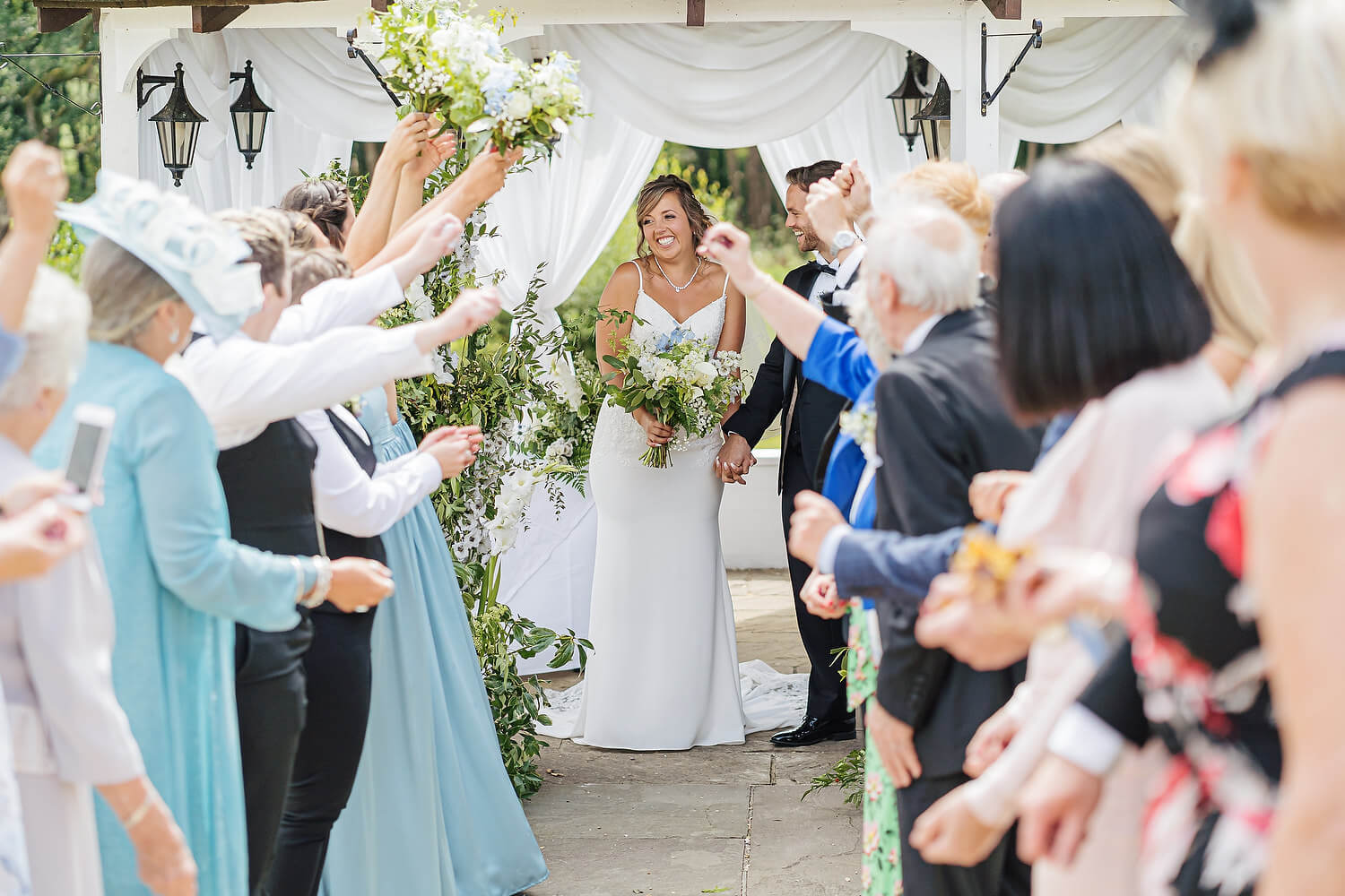 outdoor confetti at lythe hill hotel