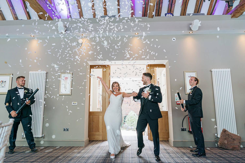 confetti guns at surrey wedding