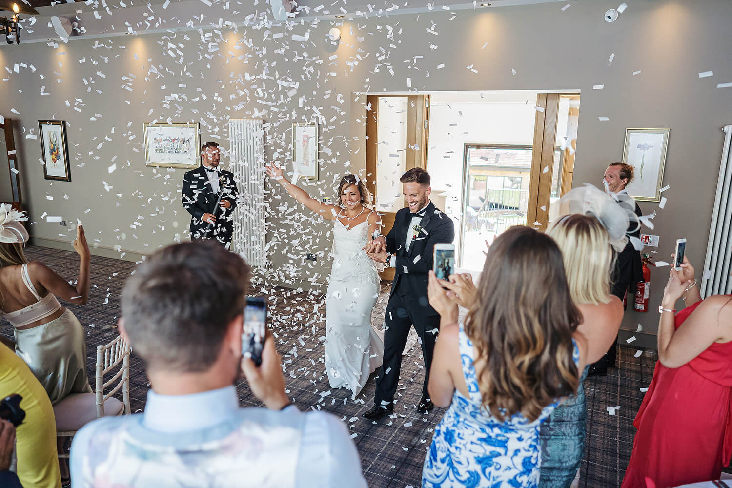confetti cannons at lythe hill hotel
