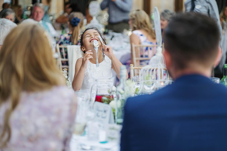 bridesmaid at surrey wedding