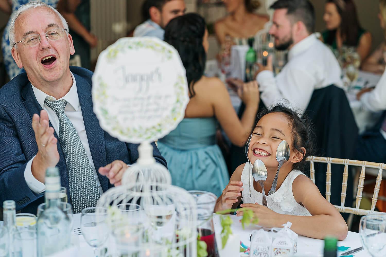 bridesmaid at surrey weddng