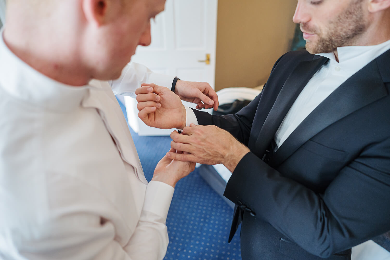 groom at surrey wedding