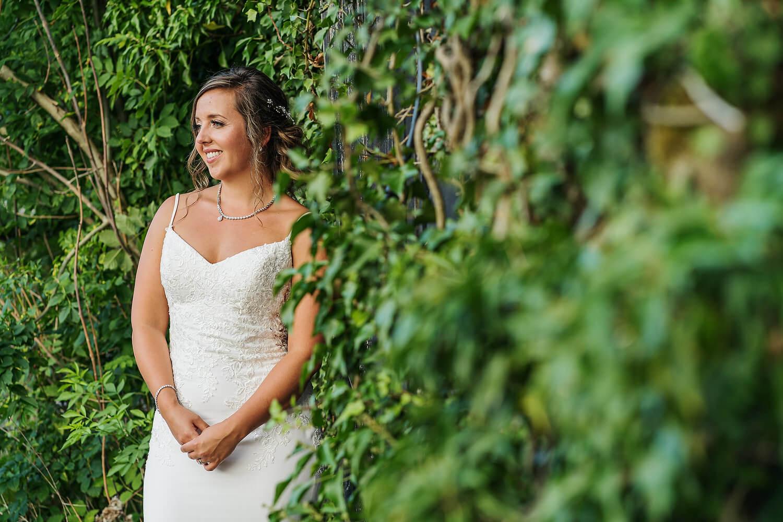 bride at lythe hill wedding