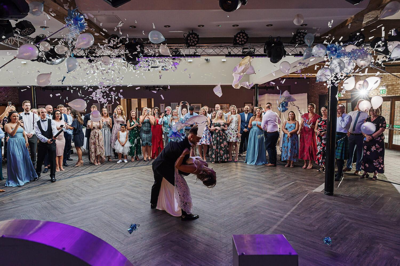balloons at surrey wedding