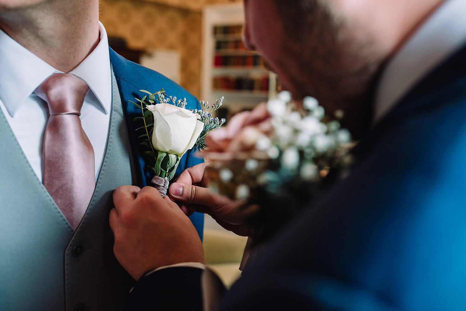 groom's buttonhole at froyle park