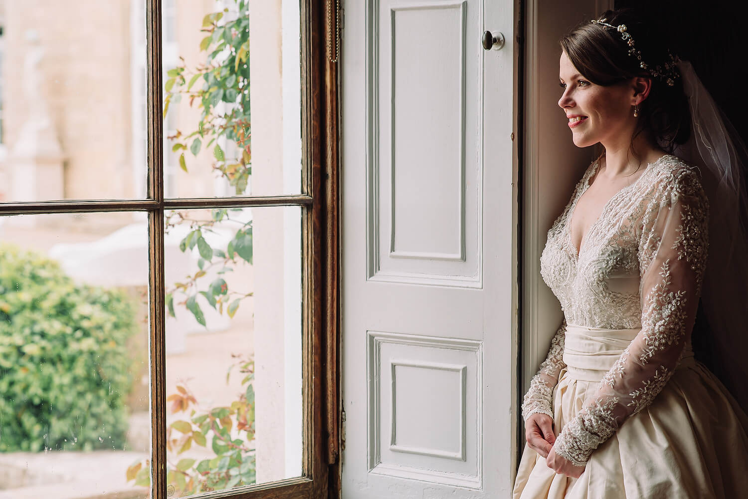 bride at froyal park wedding