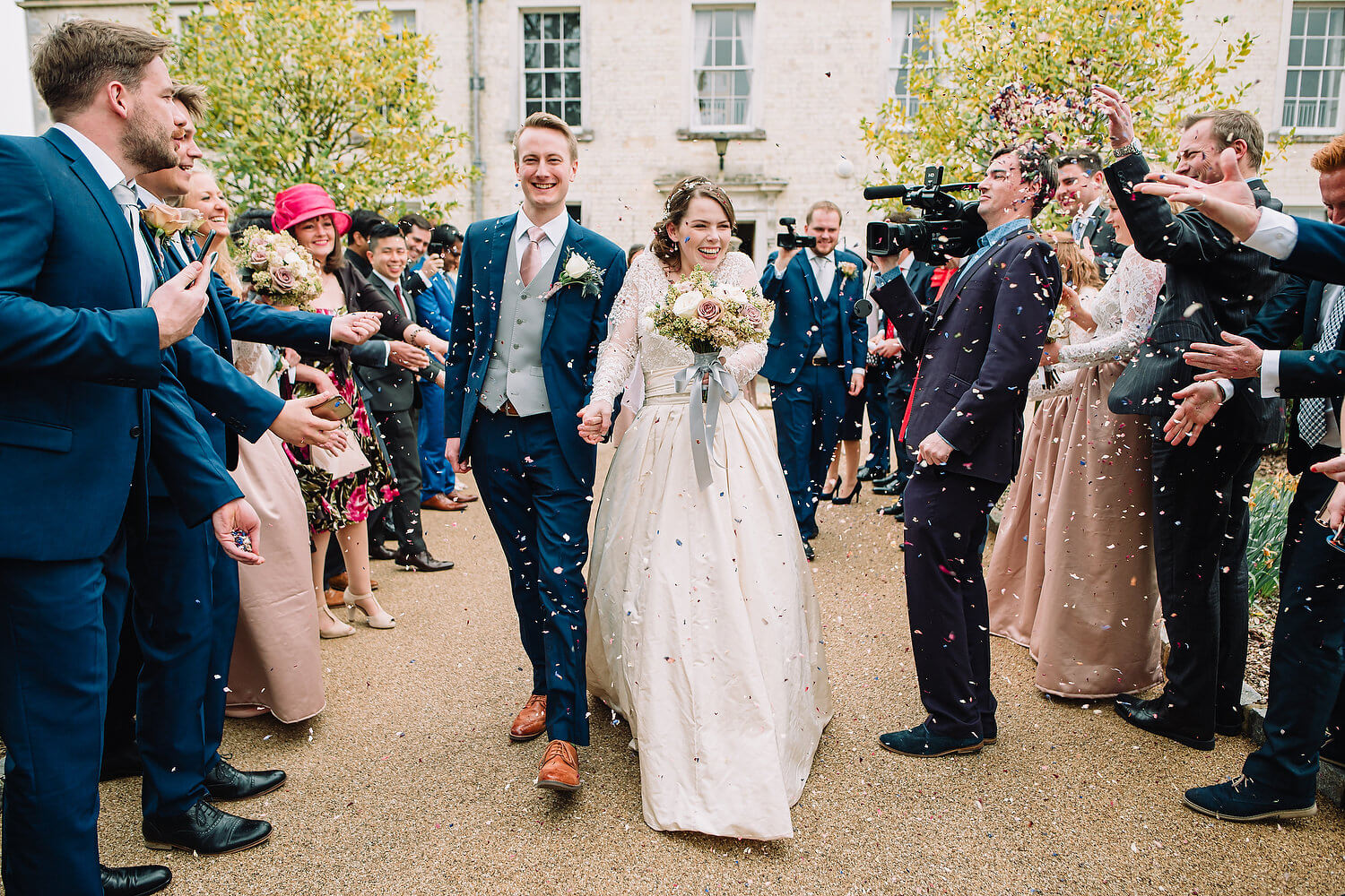 wedding confetti at froyle park