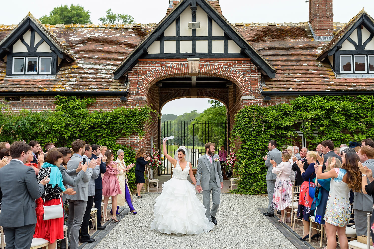 outdoor wedding ceremony dorset