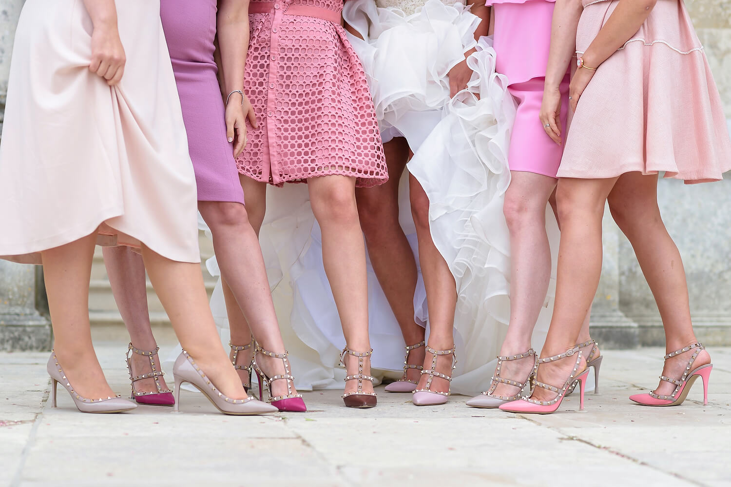 bridal party valentino wedding shoes