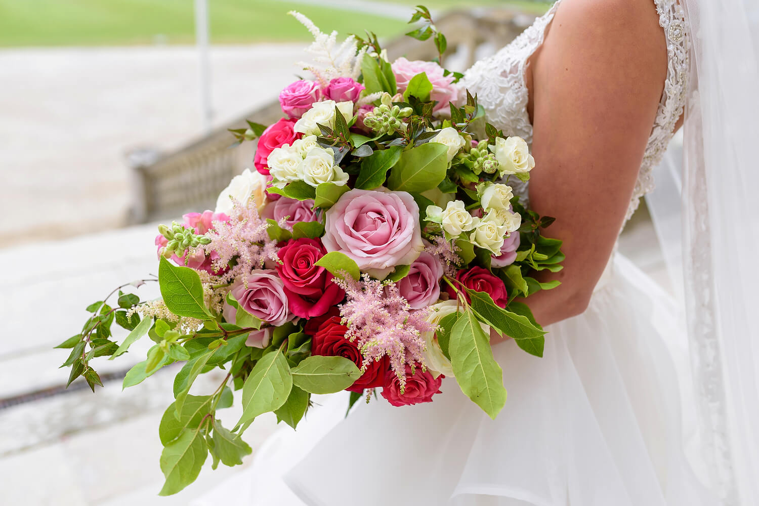 brides flowers at lulworth wedding