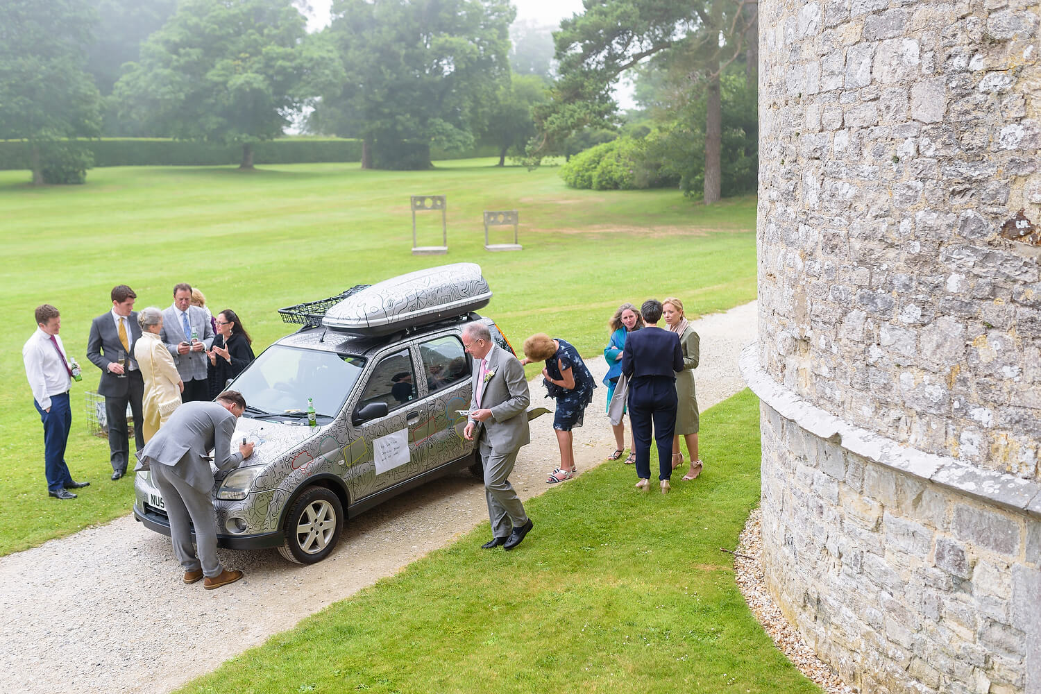 wedding guests lulworth castle