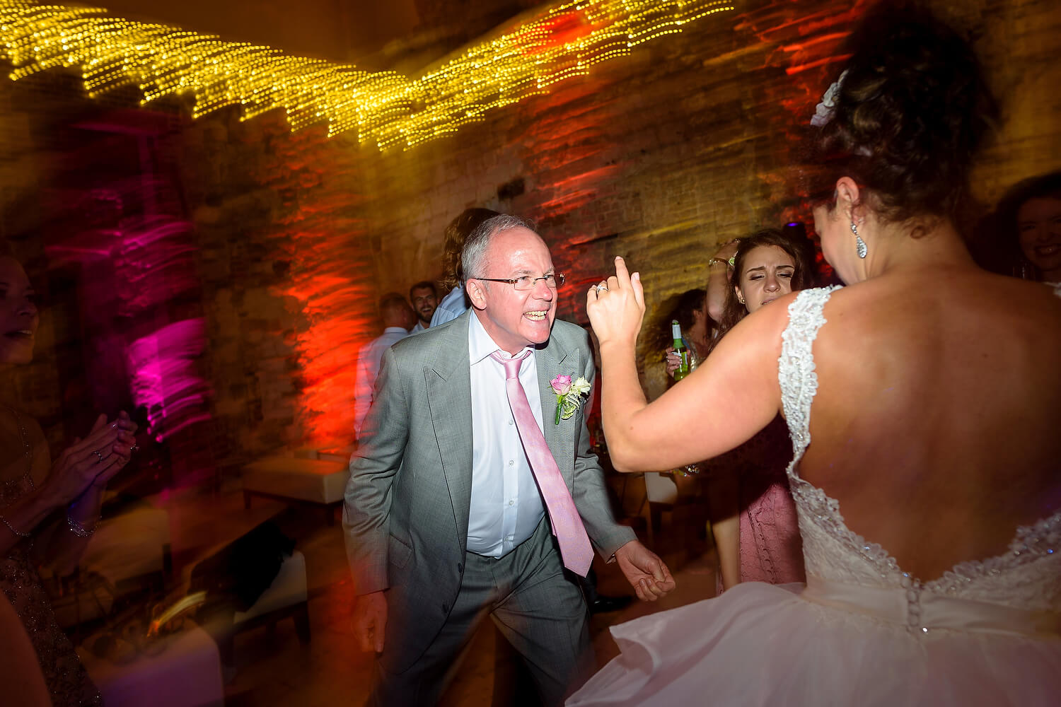 brides dad on dance floor