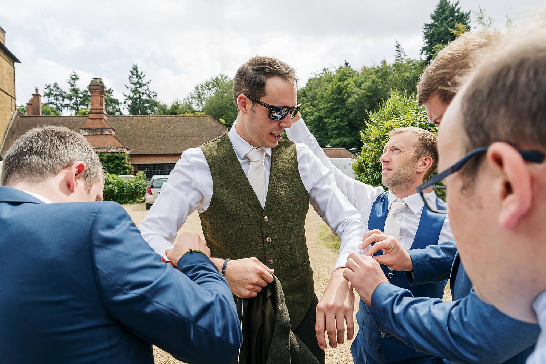 groom at ramster hall gardens