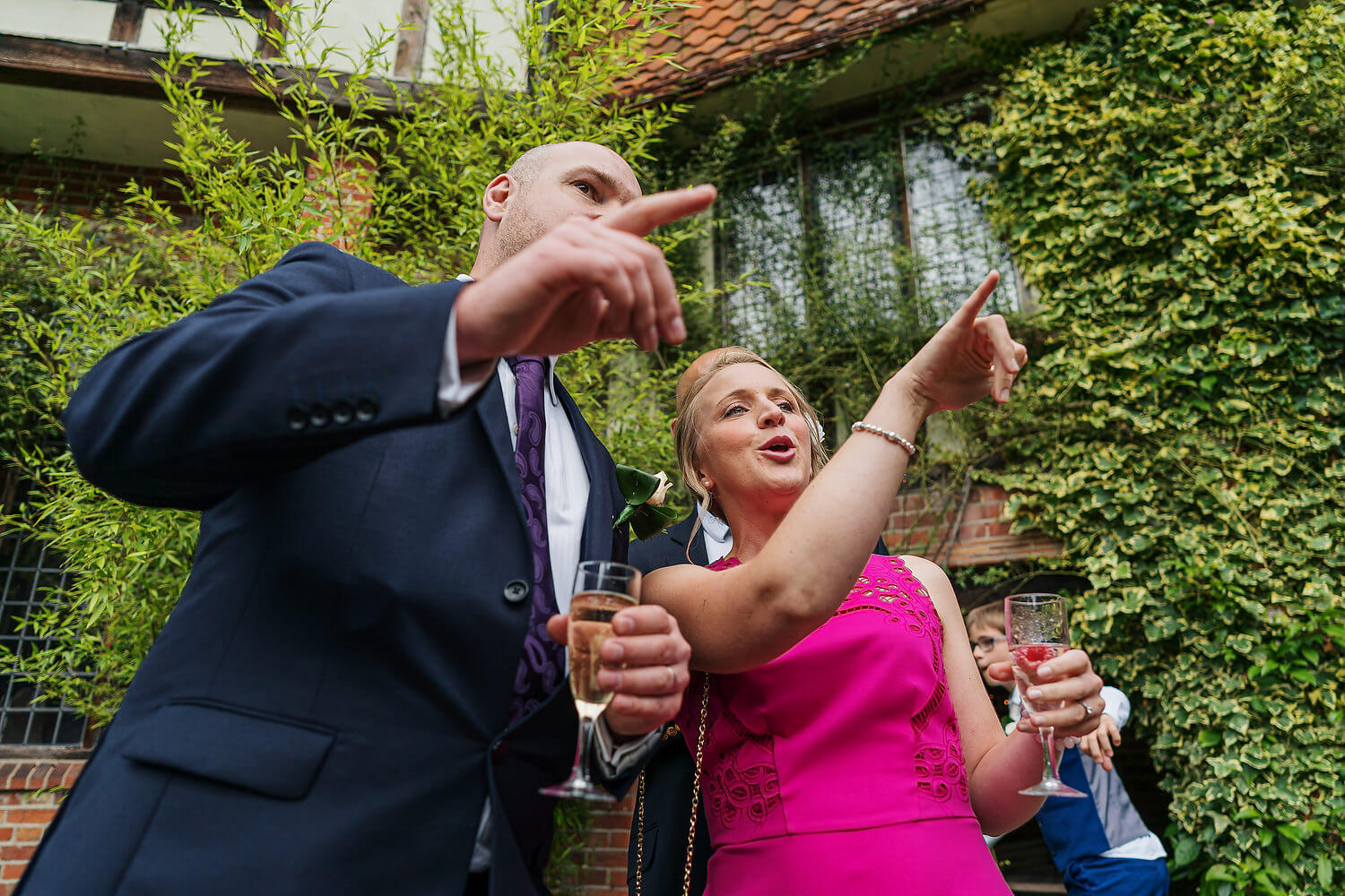 wedding guests at ramster hall