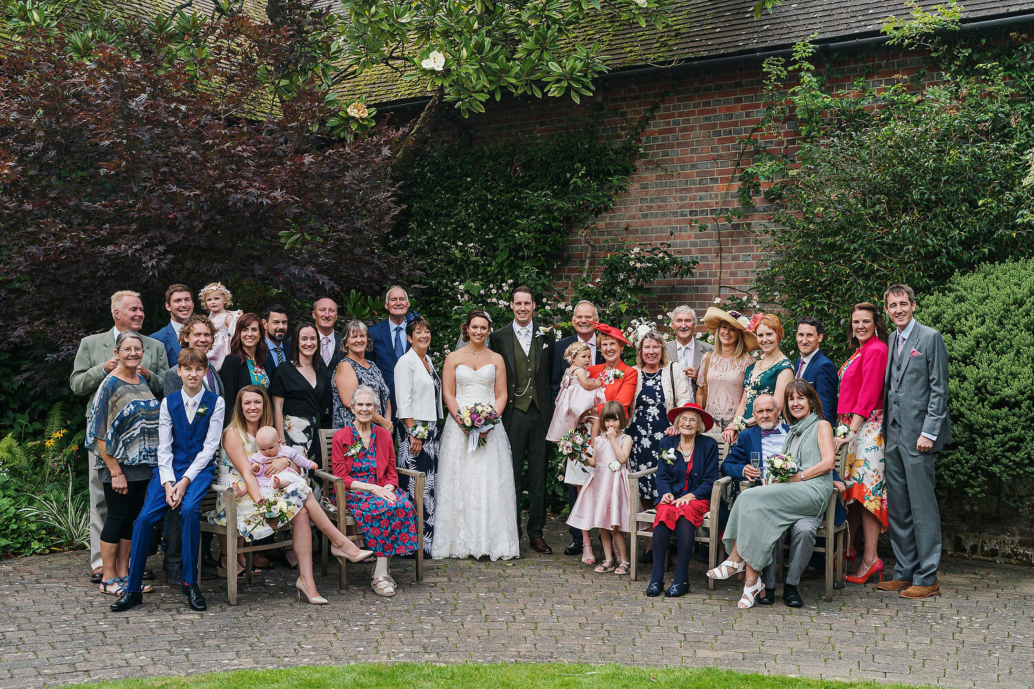 group wedding photograph at ramster hall