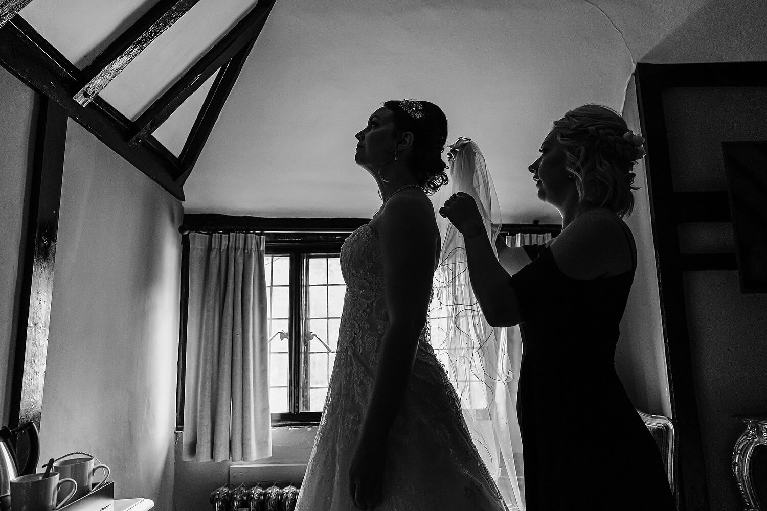 bride getting ready at ramster hall