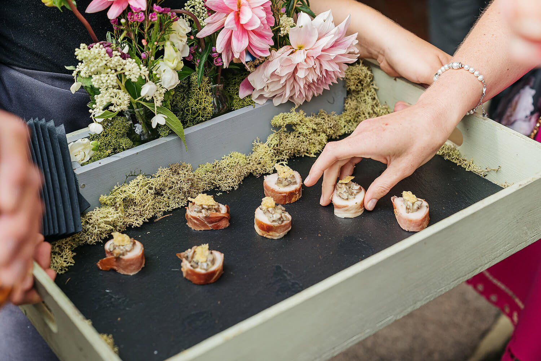 food at wedding venue in surrey