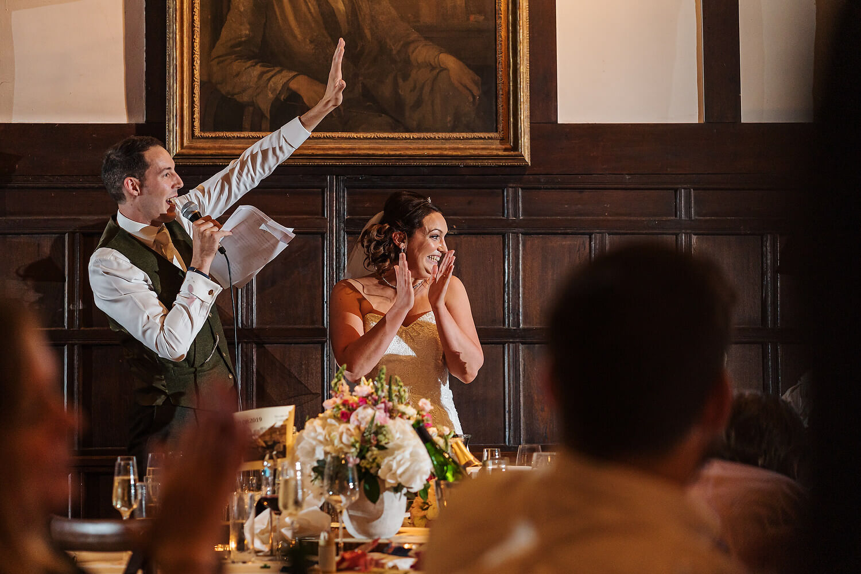 wedding speeches ramster hall