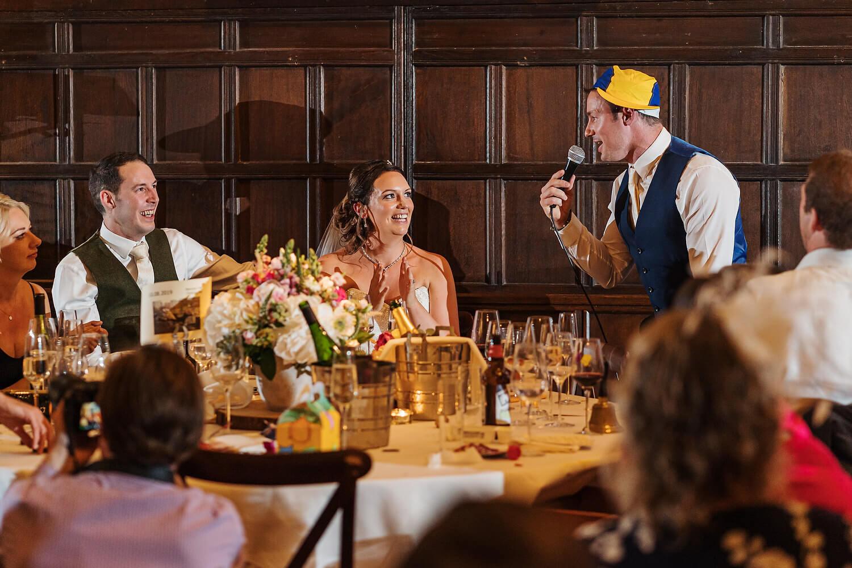 wedding speeches surrey wedding
