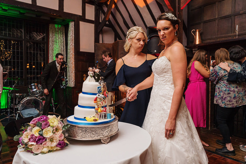 wedding guests at surrey wedding