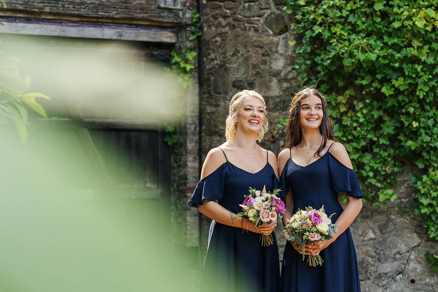 bridesmaids at ramster hall in surrey