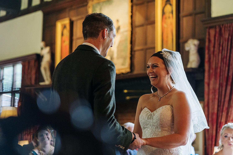 bride and groom at surrey wedding
