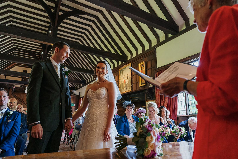 ramster hall bride and groom