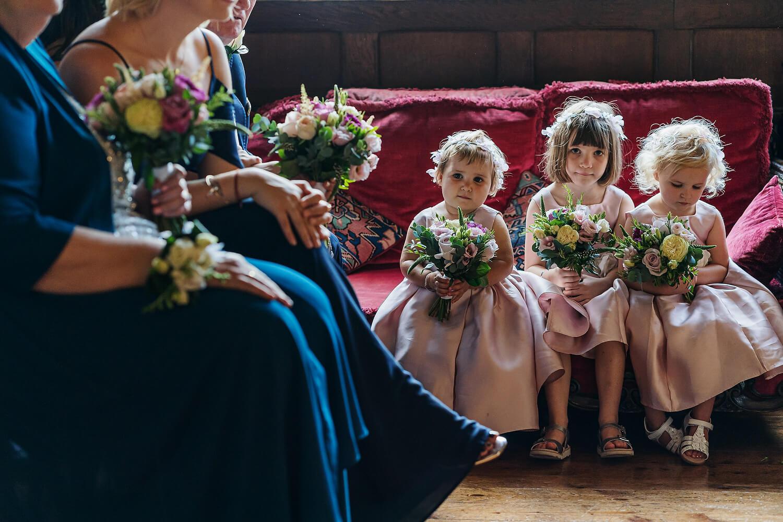 bridesmaids at surrey wedding venue