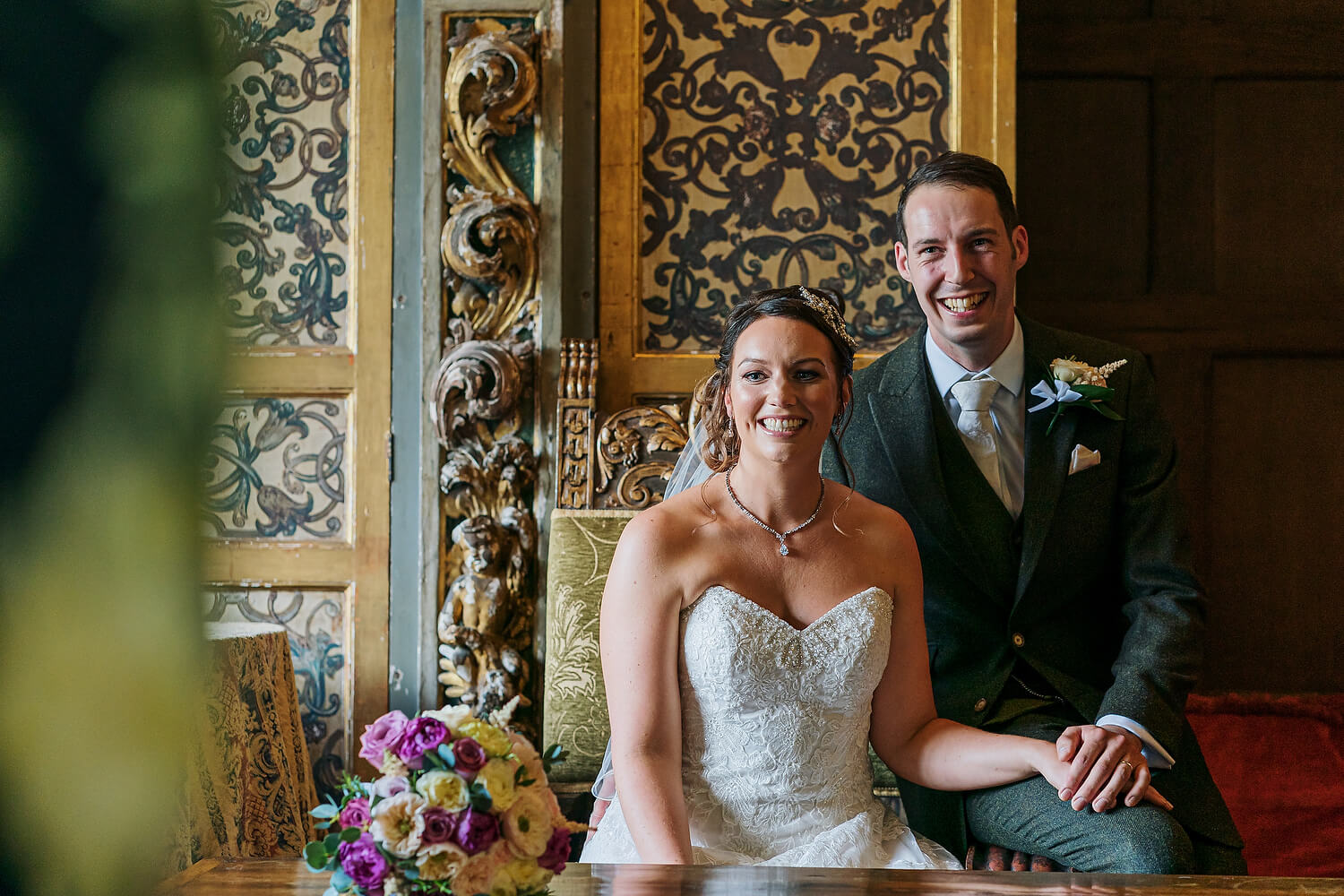 wedding signing at ramster hall