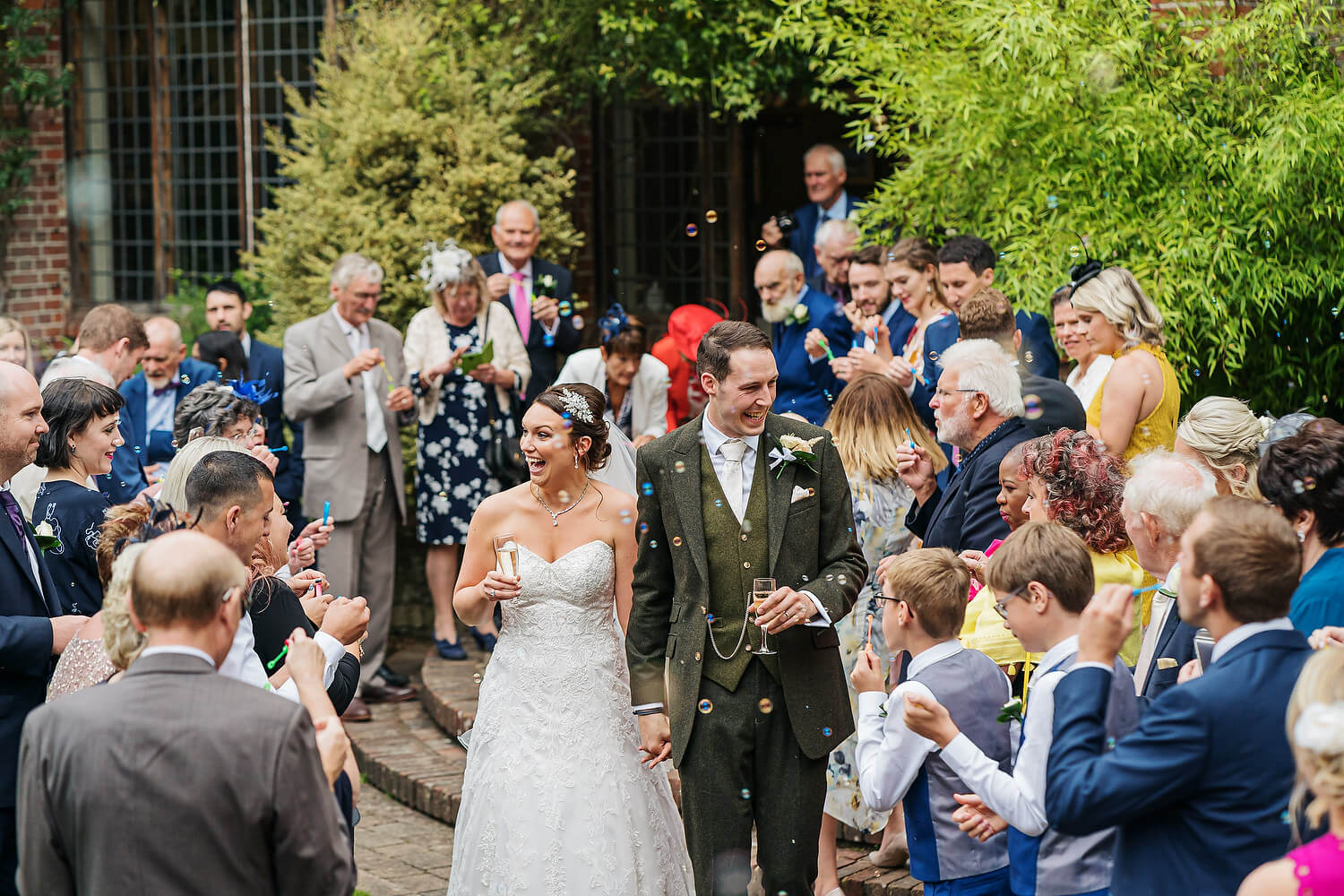 confetti at ramster hall wedding
