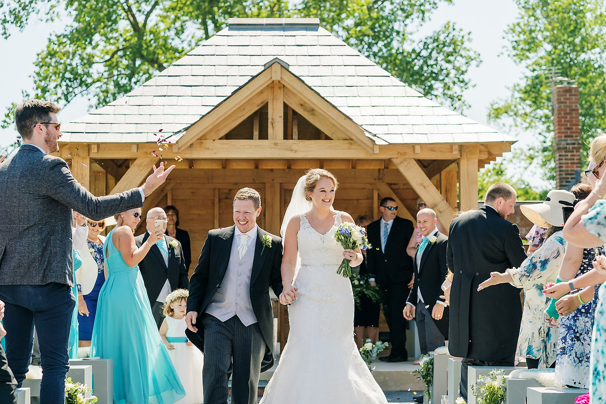 wedding ceremony at southend barns