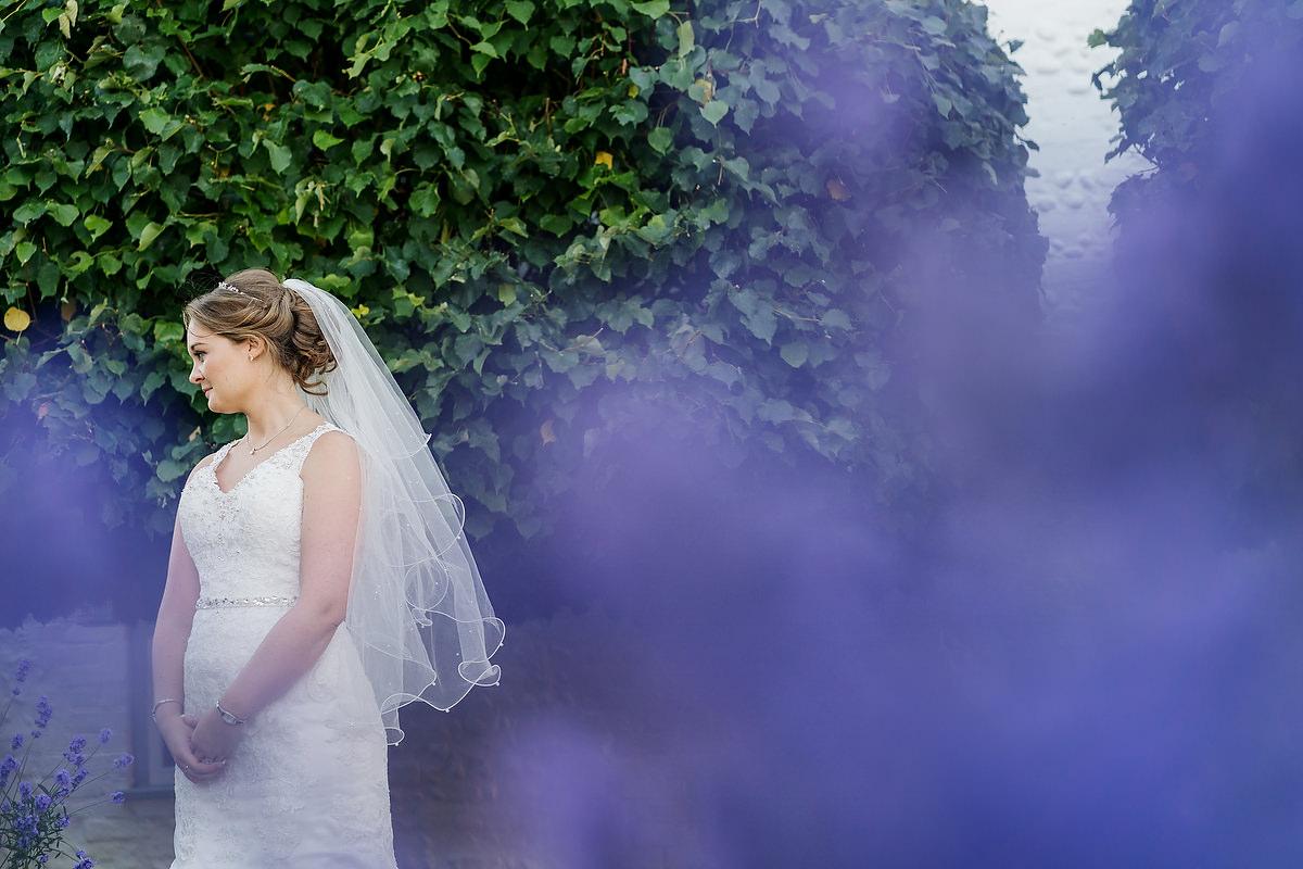 bride at southend barns wedding